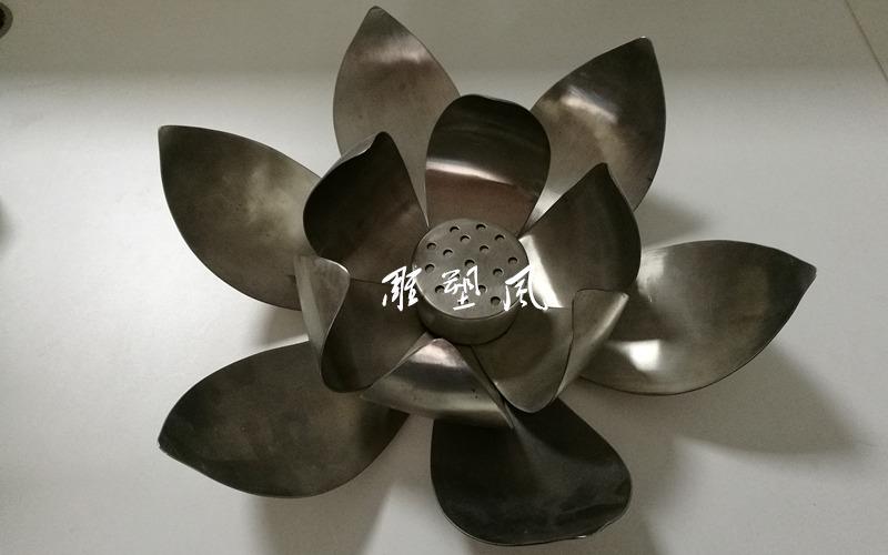 莲花雕塑 不锈钢小样品