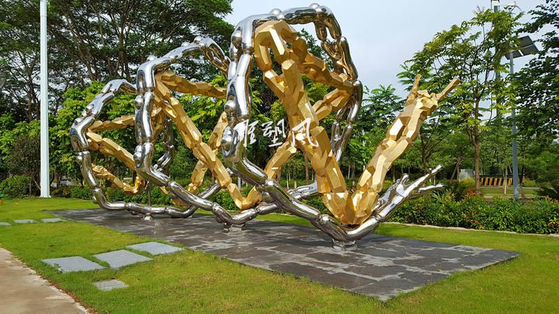 企业不锈钢雕塑