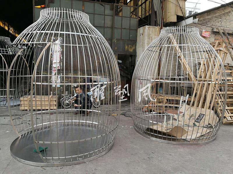 拉丝不锈钢鸟笼