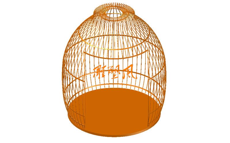 不锈钢鸟笼3D设计图