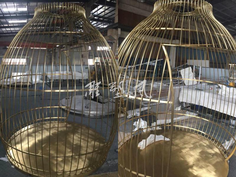 钛金不锈钢鸟笼