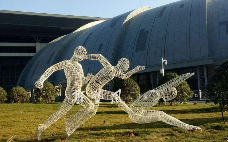 不锈钢体育运动雕塑