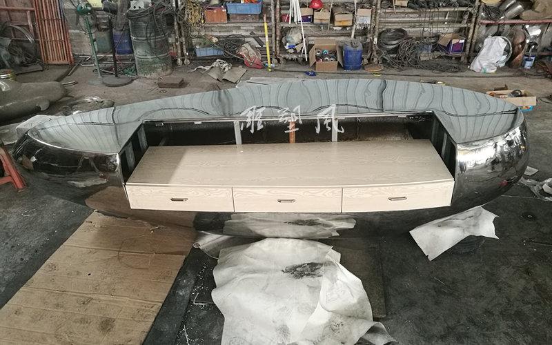 不锈钢吧台正面