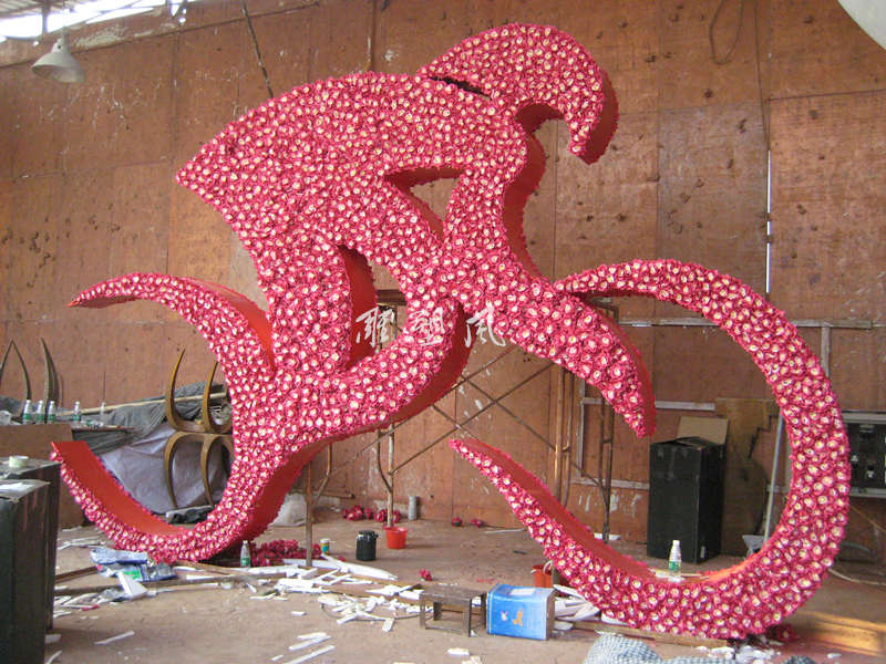 不锈钢雕塑花形覆盖