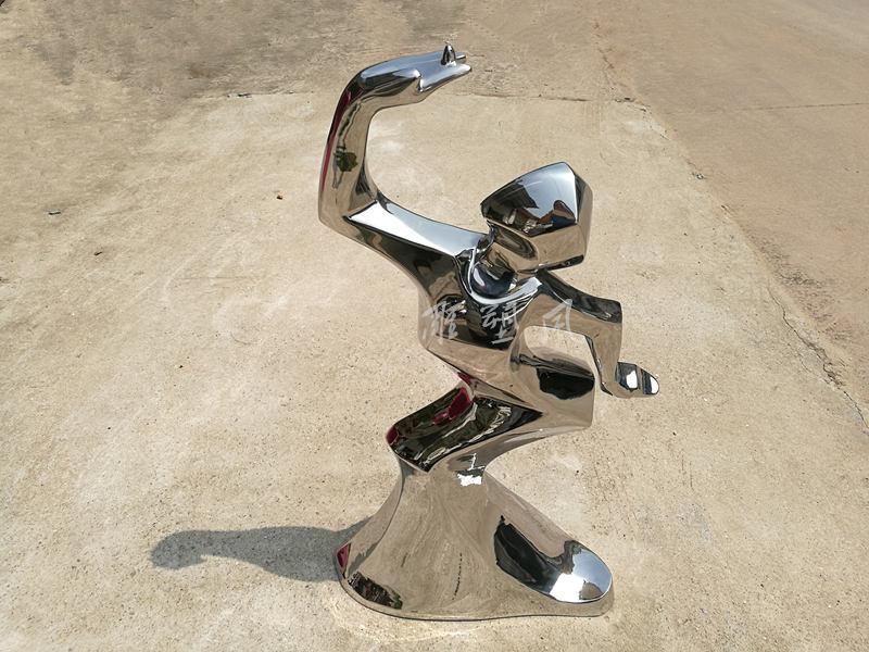 鹤舞镜面不锈钢摆件成品