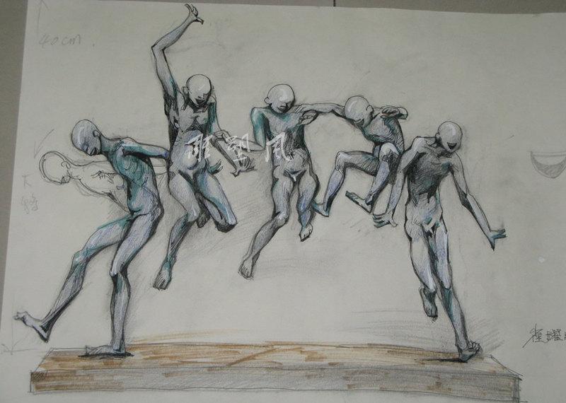 人物雕塑手稿