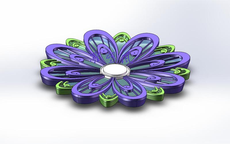 不锈钢花朵3D设计效果图