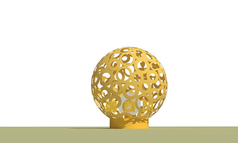 不锈钢景观球设计