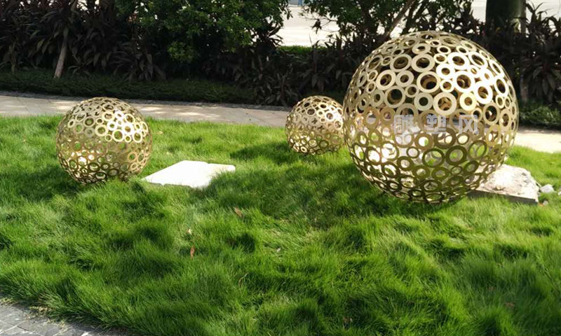 不锈钢景观球安装