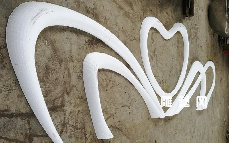 绽放心形不锈钢雕塑小稿