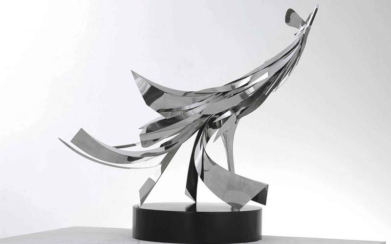 镜面不锈钢雕塑凤凰来仪