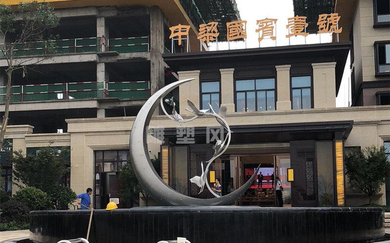 不锈钢主题雕塑安装