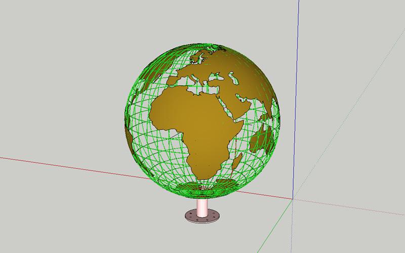 不锈钢地球仪雕塑设计