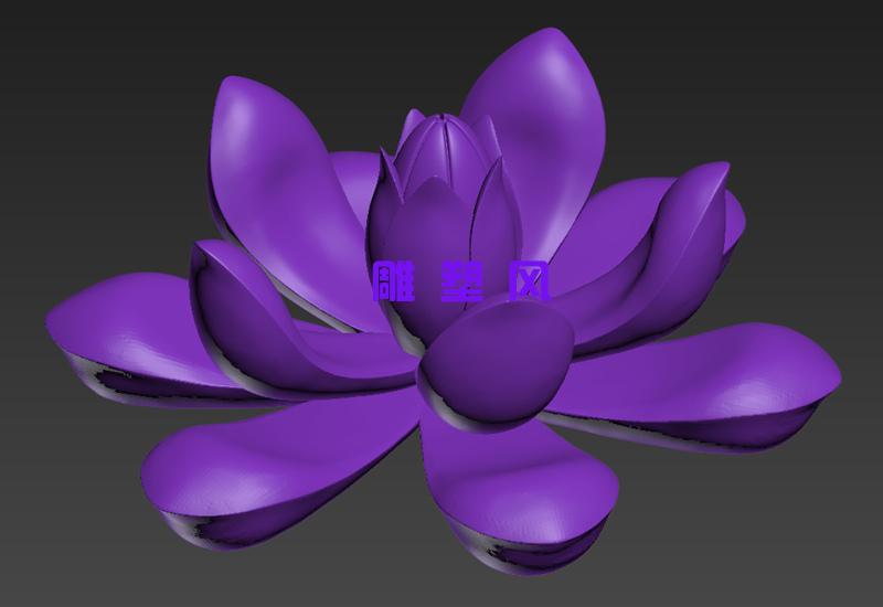 不锈钢莲花雕塑三维设计