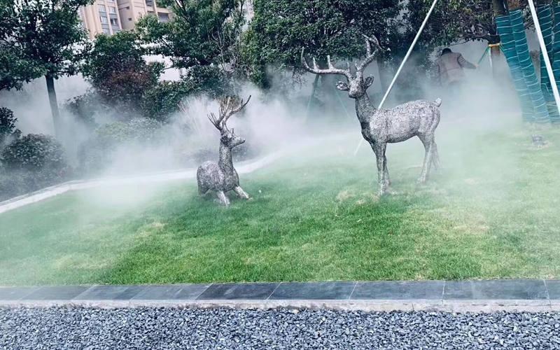 园林景观不锈钢鹿雕塑