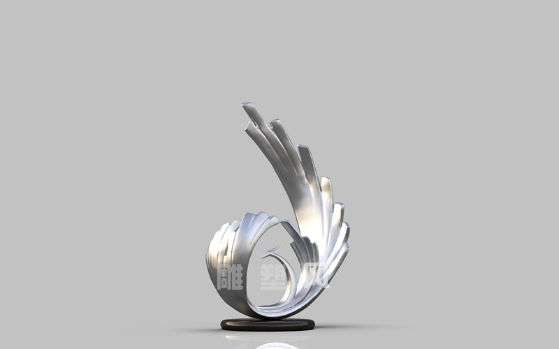 镜面不锈钢凤凰雕塑_抽象凤凰雕塑