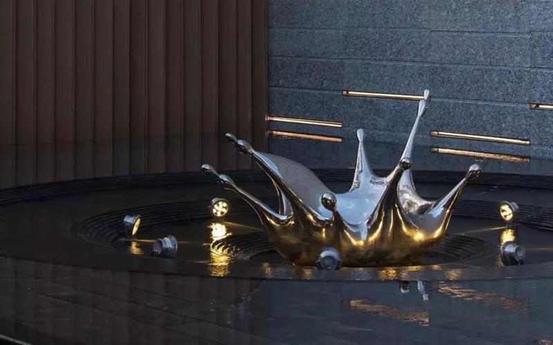 镜面不锈钢水花雕塑