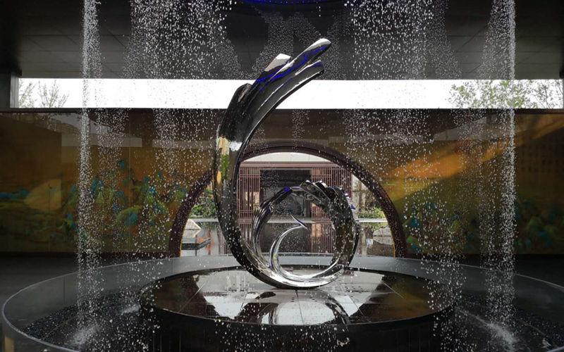 镜面不锈钢凤凰雕塑 抽象凤凰雕塑