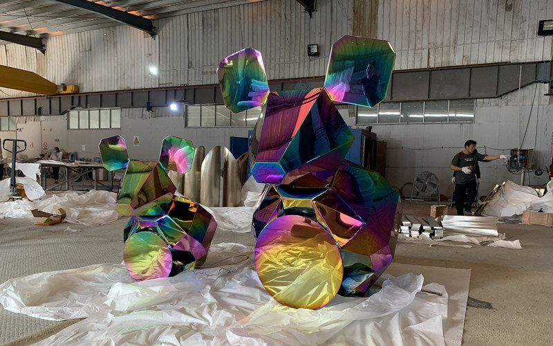 不锈钢老鼠雕塑电镀七彩颜色