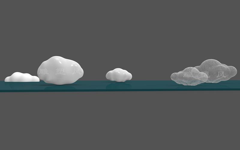 3D设计云朵雕塑图纸
