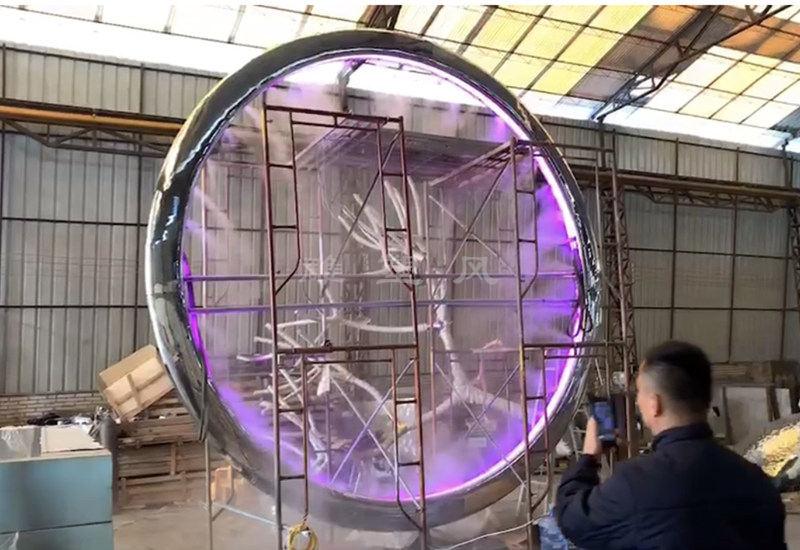 不锈钢水景圆环喷雾系统安装